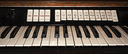 Part of the old electronic keyboard instrument