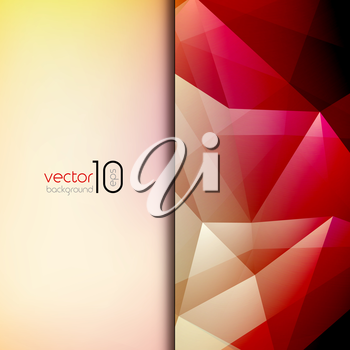 Abstract geometric polygonal shiny background for cover, poster, web design