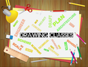 Drawing Classes Representing Lesson Schooling And Sketch