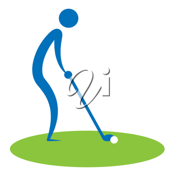 Man Teeing Off Showing Golf Courses And Golfing