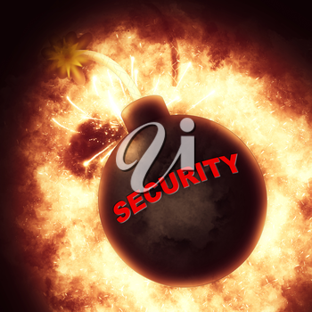 Security Bomb Meaning Explode Explosive And Forbidden