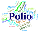 Polio Word Indicating Ill Health And Disability