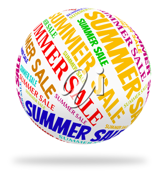 Summer Sale Representing Hot Weather And Sales