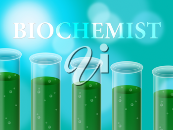 Biochemist Research Representing Studies Living And Lab