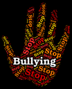 Stop Bullying Showing Push Around And Stopped