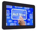 Act Now Tablet Touch Screen Showing Inspired Activity