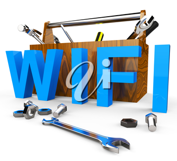 Wifi Tools Indicating World Wide Web And Website