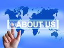 About Us Map Showing Website Information of an International Company