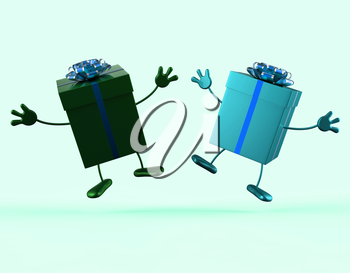 Presents Showing Buying Giving And Receiving Gifts