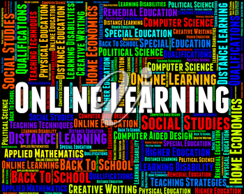 Online Learning Showing World Wide Web And Website