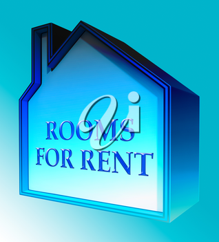 Rooms For Rent House Shows Real Estate 3d Rendering