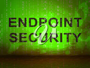 Endpoint Security Safe System Shows Safeguard Against Virtual Internet Threat - 2d Illustration