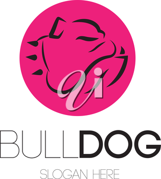 Bulldog Logo Concept Design. AI 10 Supported.