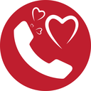 Heart and Phone Icon Design, EPS 8 supported.