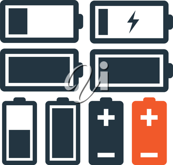 Battery Icon Set Design. Eps 8 supported.