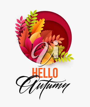 Autumn background with Fall leaves. Vector illustration EPS10