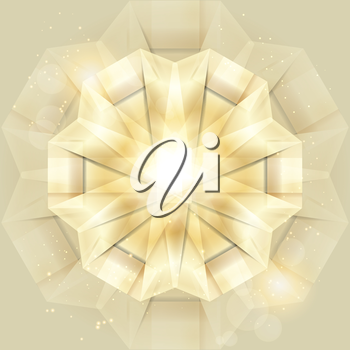 Abstract gold shiny background. Vector creative illustration.