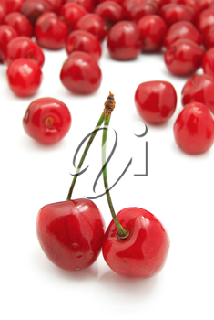 Group of sweet cherries. Element of design.