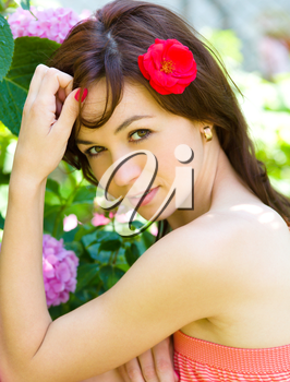 Spring Beauty Girl. Beautiful Young Woman outdoor