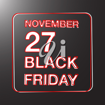 Black Friday sale stamp design. Vector illustration