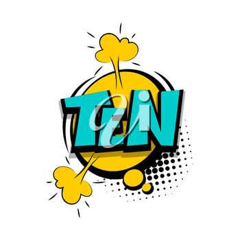 Ten comic funny colorful number, count, school, badge cloud vector pop art style. Colored message bubble speech comic cartoon expression illustration. Comics book background template.