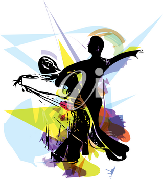 Abstract illustration of Latino Dancing couple