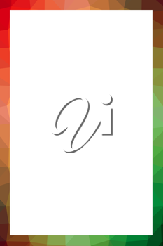 Vivid multicolor polygonal frame with blank white copy space.