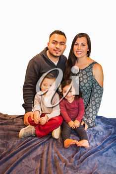 Beautiful Portrait of Happy Hispanic Family