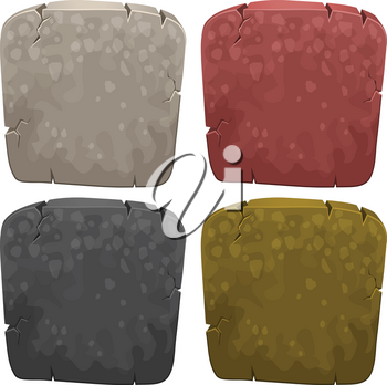 Background templates with stone in four colors illustration