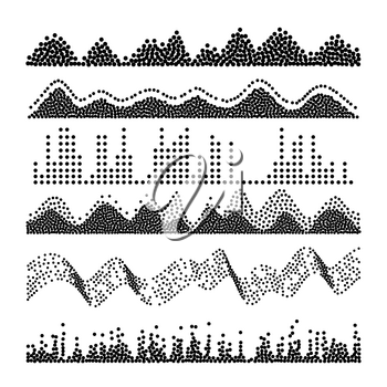 Sound Waves Vector. Pulse Abstract. Digital Frequency Track Equalizer Illustration