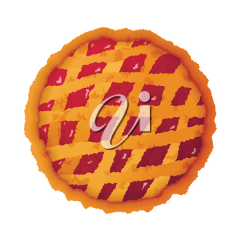 Bright colorful pie icon isolated on white