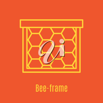 Vector illustration of thin line icon bee frame for medicine, apitherapy, beekeeping products, cosmetics, soap. Linear symbol