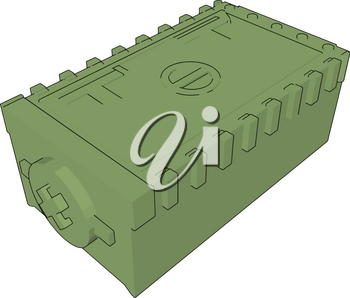 3D vector illustration on white background  of a military mobile weapon case